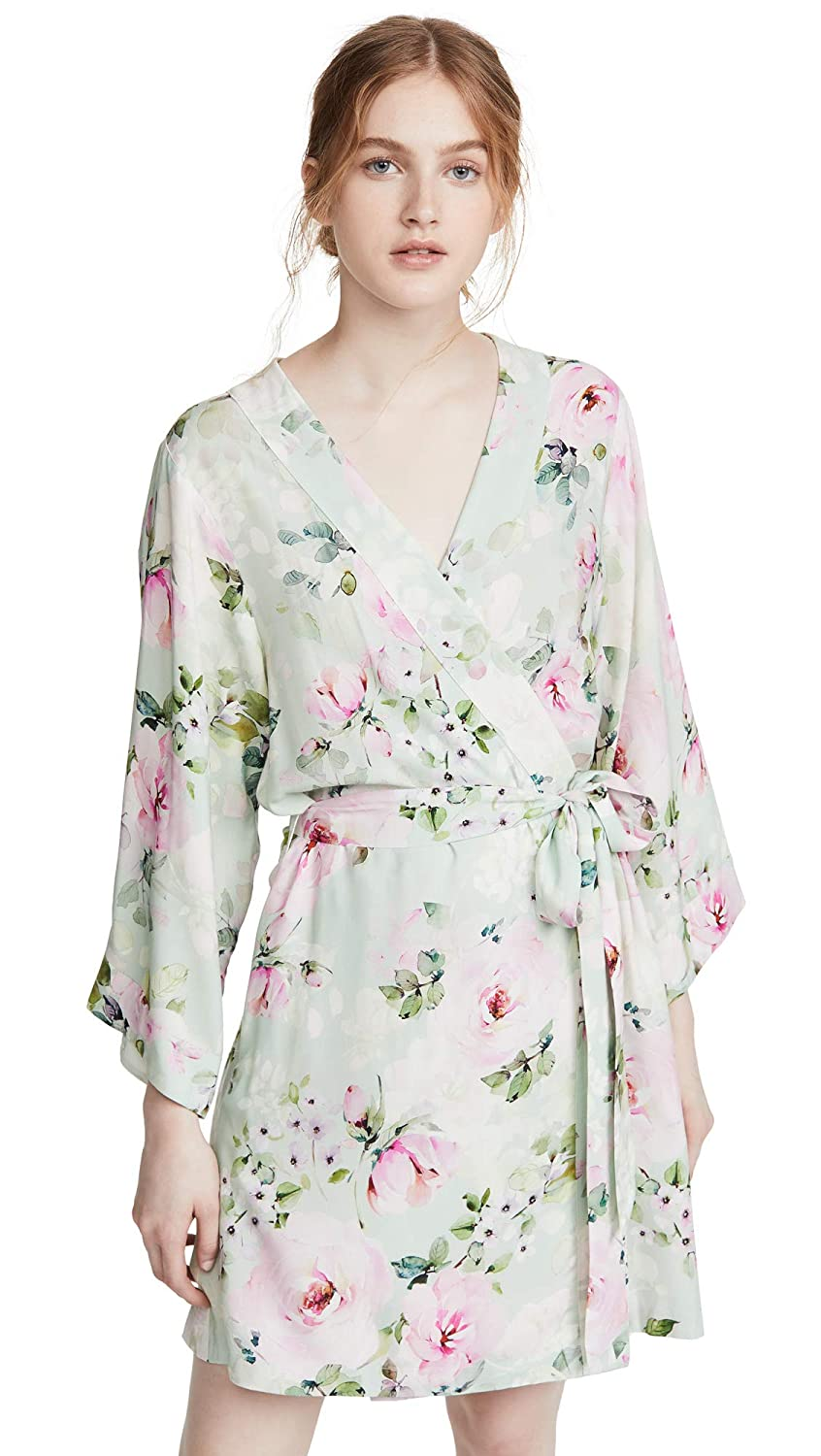 Yumi Kim Women S Dream Lover Robe Sunday Rose Green Floral X Small Amazon In Clothing Accessories