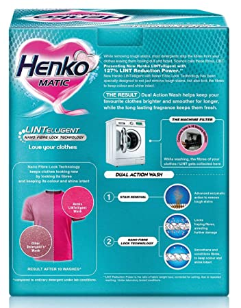 Henko Matic Front Load Detergent - 1 kg with Free Detergent - 500 g