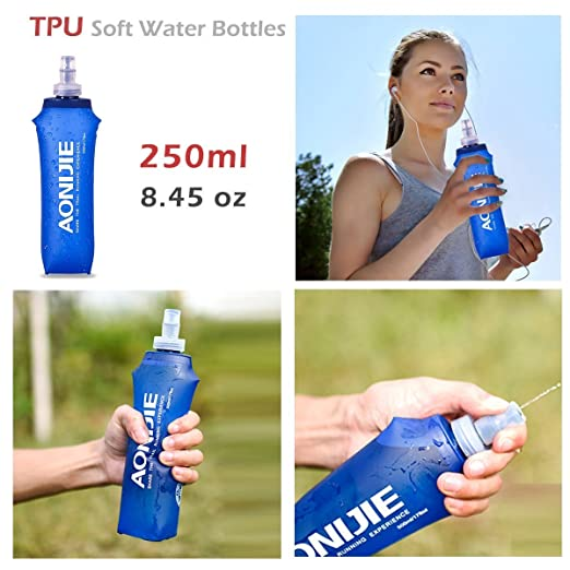 ... Running Water Bottles BPA-Free Leak-Proof for Hydration Pack - Ideal for Running Hiking Cycling (250ml/8.45oz - Pack of 2) : Sports & Outdoors