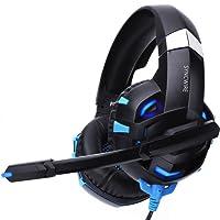 Syncwire Gaming Headset Gaming Kopfhörer - Surround Sound Kopfhörer mit Mikrofon & LED-Licht, on Ear Ohrhörer für PS4, PC, Xbox One, Laptop, Nintendo Switch Spiele