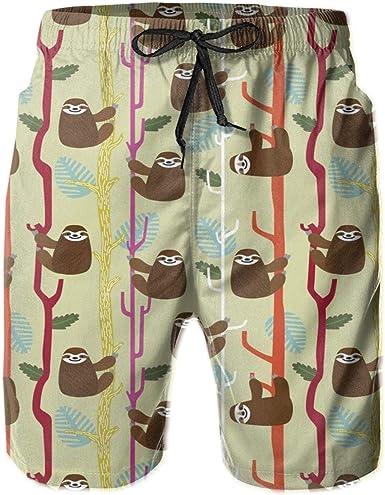 Olverz Pantalones cortos de playa para hombres lindo ...
