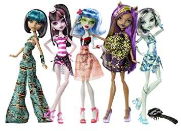 Amazon.com: Monster High Skull Shores 5 Pack w/ 3 exclusive Dolls ...