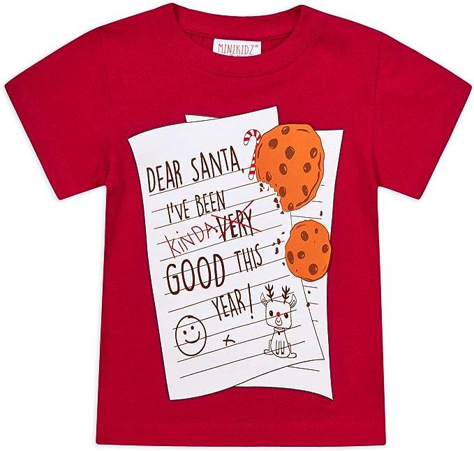 Jolly Rascals - Camisetas de Navidad Unisex para niños, 100% algodón, Color Rojo y Azul, para niños de 2 a 4 a 5 años: Amazon.es: Ropa y accesorios