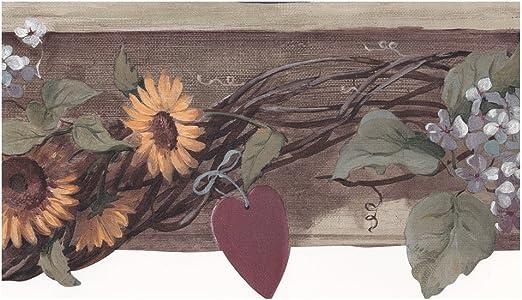 Amazon Com Sage Country Sunflower Wallpaper Border Home Kitchen