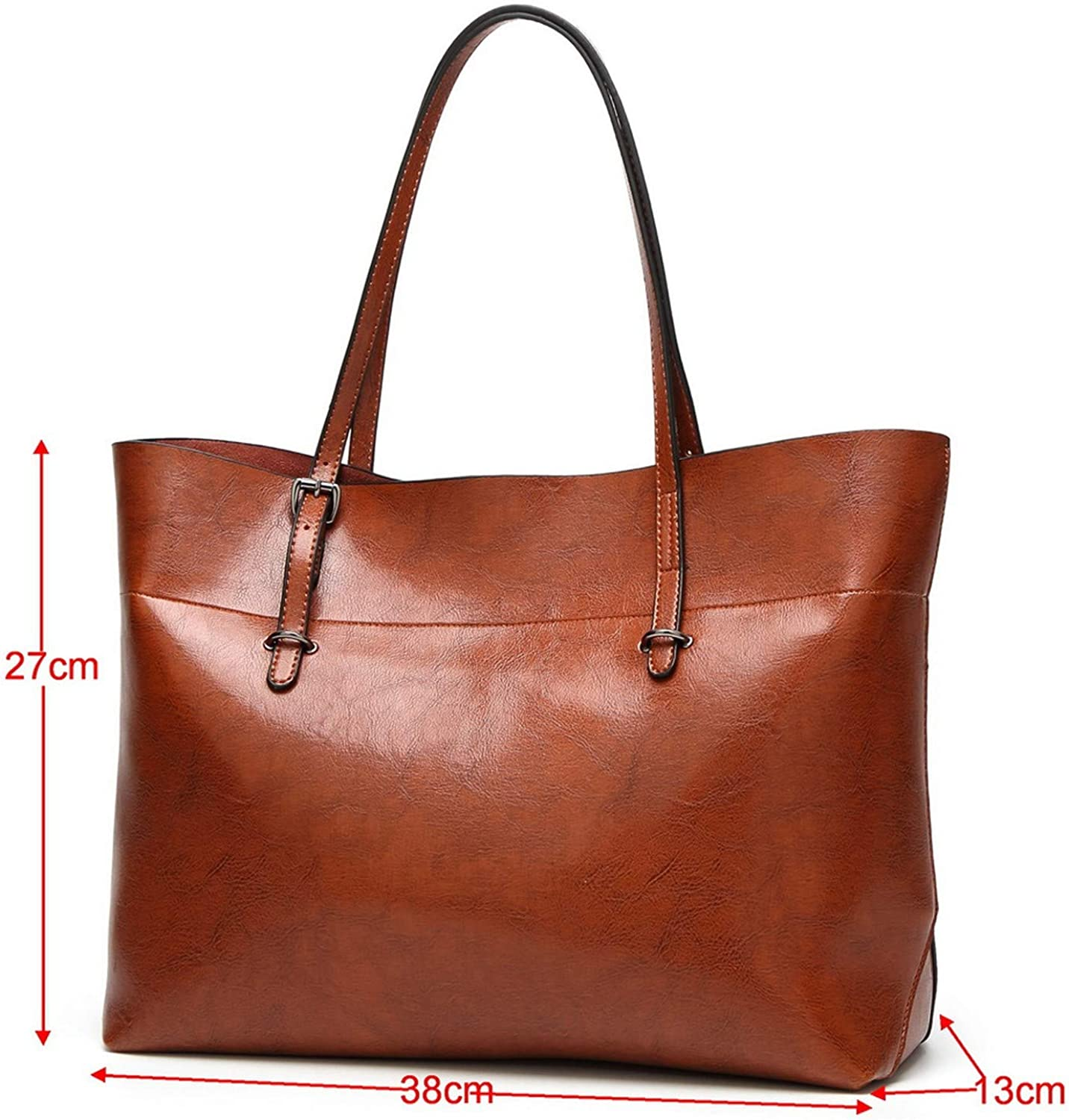 Oil wax leather Handbags Women Bags simple design leather bag
