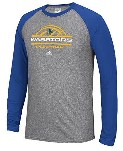 fe23ec41cf Image Unavailable. Image not available for. Color  adidas Golden State  Warriors NBA Court King Men s Climalite L S T-Shirt
