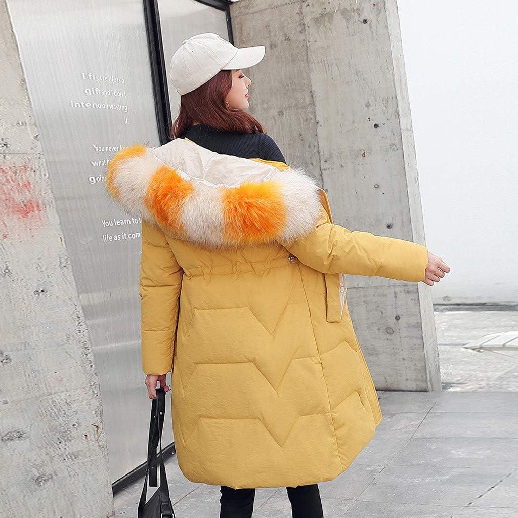Women Winter Warm Hooded Jackets Thick Faux Fur Warm Slim Jacket Long Overcoat Coat Outerwear
