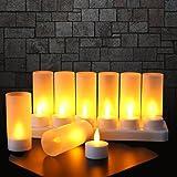 k7plus 8er teelichter mit akku ladestation elektrisch warmes gelbes flackerlicht t uschend. Black Bedroom Furniture Sets. Home Design Ideas