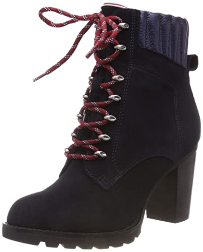 557ba0743 Tommy Hilfiger Women s Basic Hiking Heeled Boot Suede Combat  Amazon ...