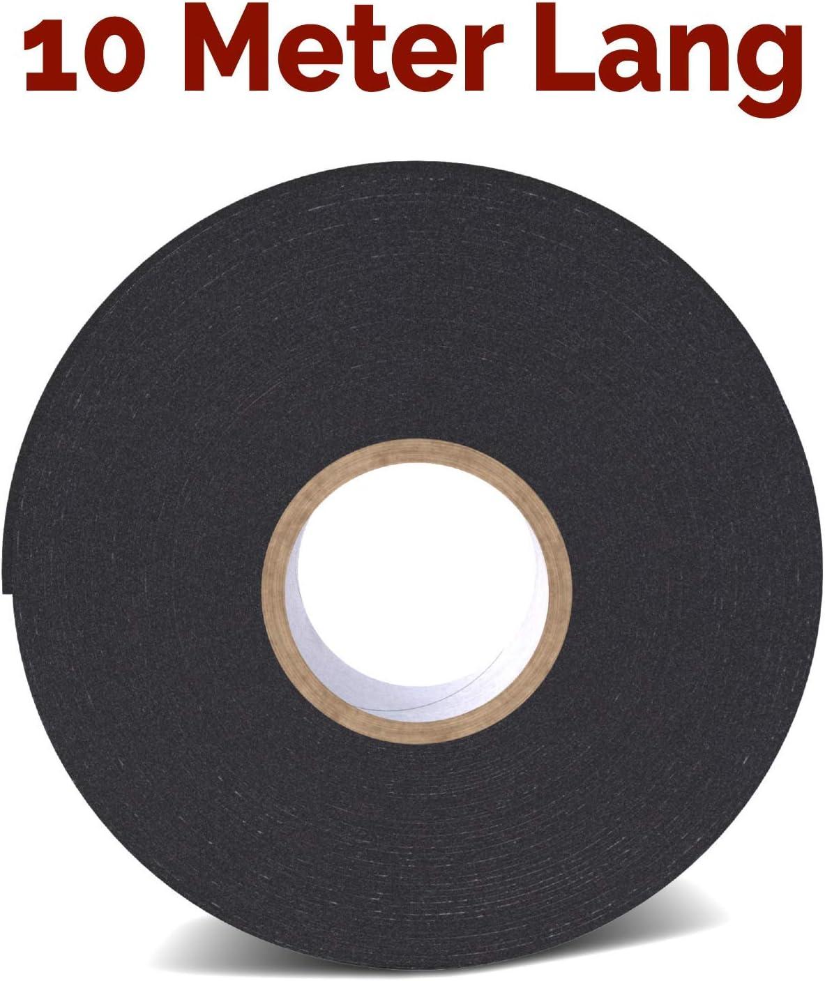 Universal Montageband aus widerstandsf/ähigem PE-Schaum Rietlow Doppelseitiges Klebeband Extra Stark Schwarzes Doppelseitiges Klebeband 10mm x 10m Verbessertes Konzept 2020