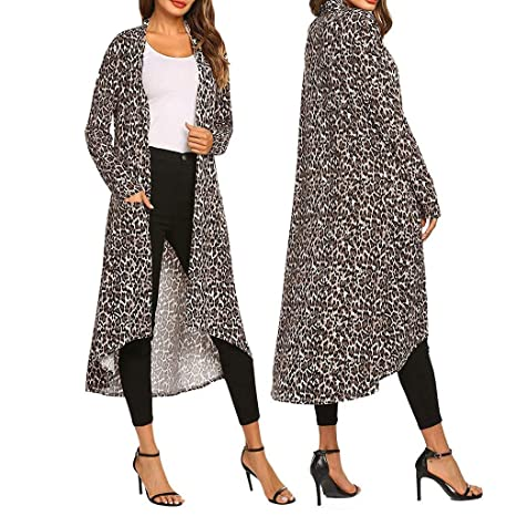 NEARTIME Women Plus Size Outwear - Long Open Front Drape ...