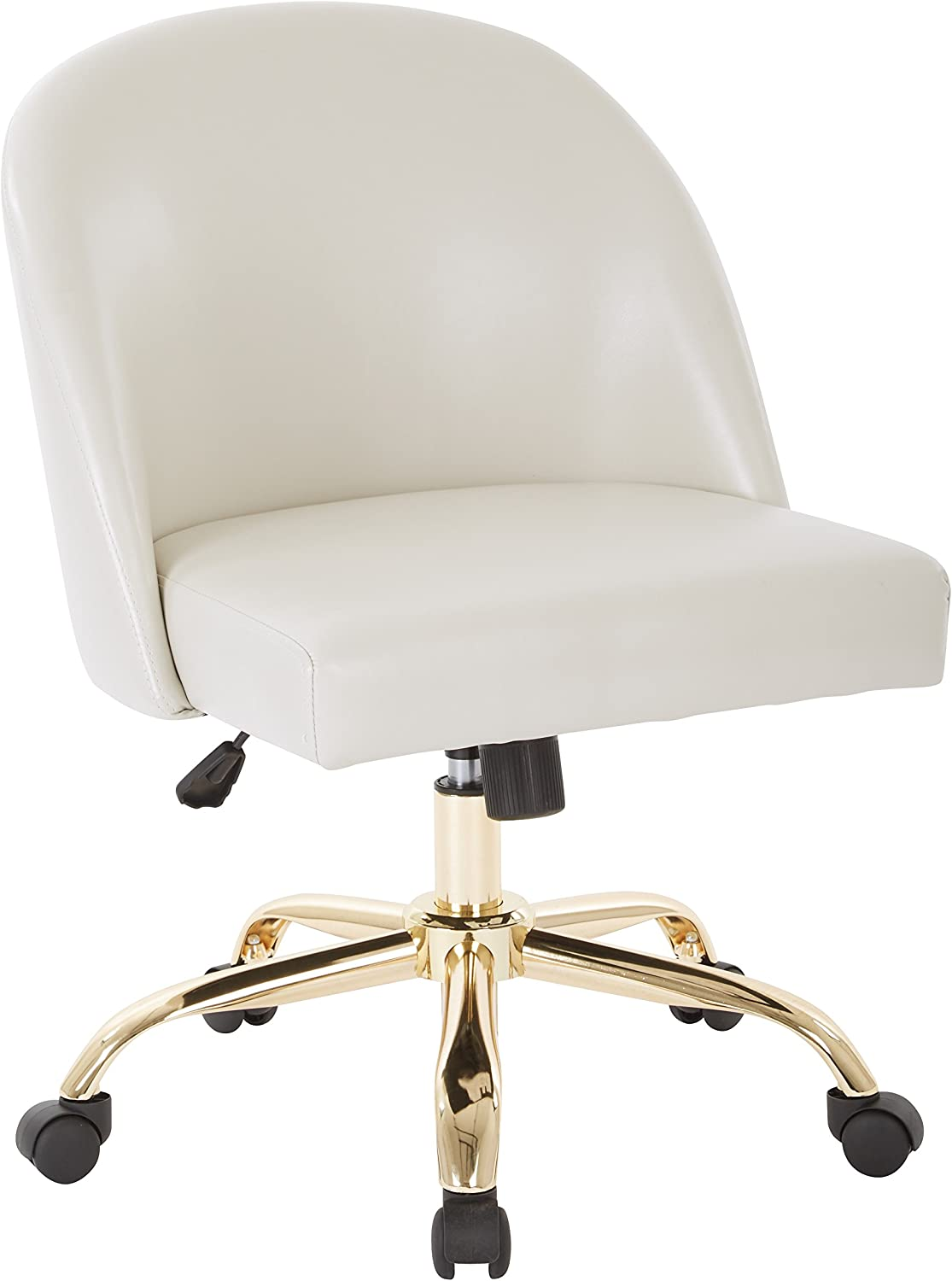 OSP Home Furnishings Layton Office Chair, Cream