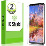 Galaxy S9 Screen Protector (2-Pack), IQ Shield LiQuidSkin Full Coverage [EDGE to EDGE] Screen Protector for Galaxy S9 (Max Coverage) HD Clear Anti-Bubble Film