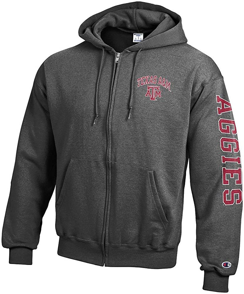 Elite Fan Shop NCAA Mens Zip Hoodie Sweatshirt Arm Dark Heather