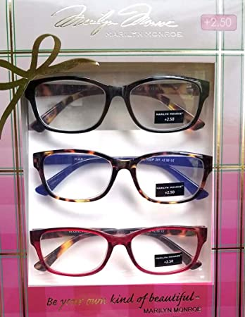 e928fd9c85c4 Image Unavailable. Image not available for. Color  Marilyn Monroe Fashion  Print Reading Glasses 3 Pack Readers ...