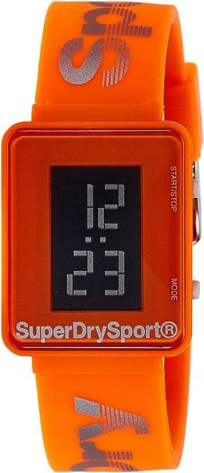 Superdry Reloj Digital para Hombre de Cuarzo con Correa en Silicona SYG204O