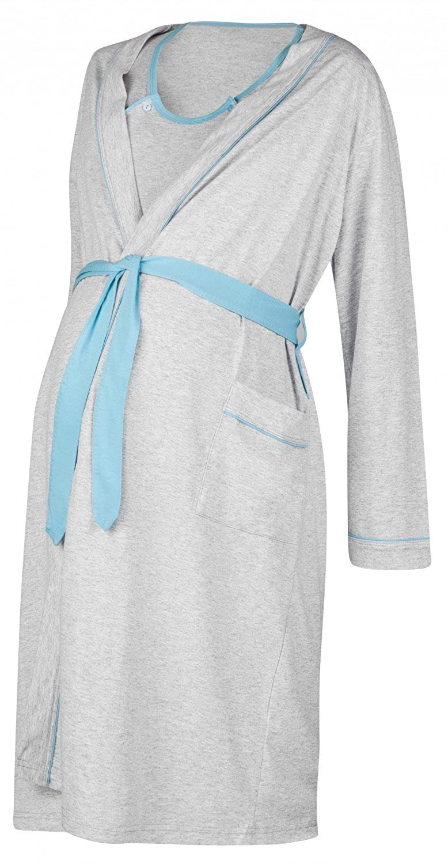 Blue, US 6//8, M Happy Mama Womens Maternity Hospital Gown Robe Nightie Set Labour /& Birth 767p