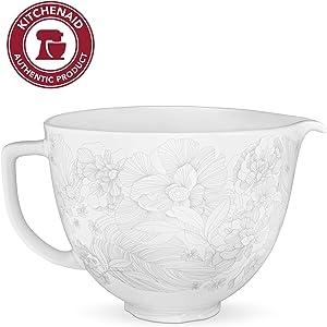 KitchenAid KSM2CB5PWF Ceramic Bowl 5-Quart Mixer- Whispering Floral