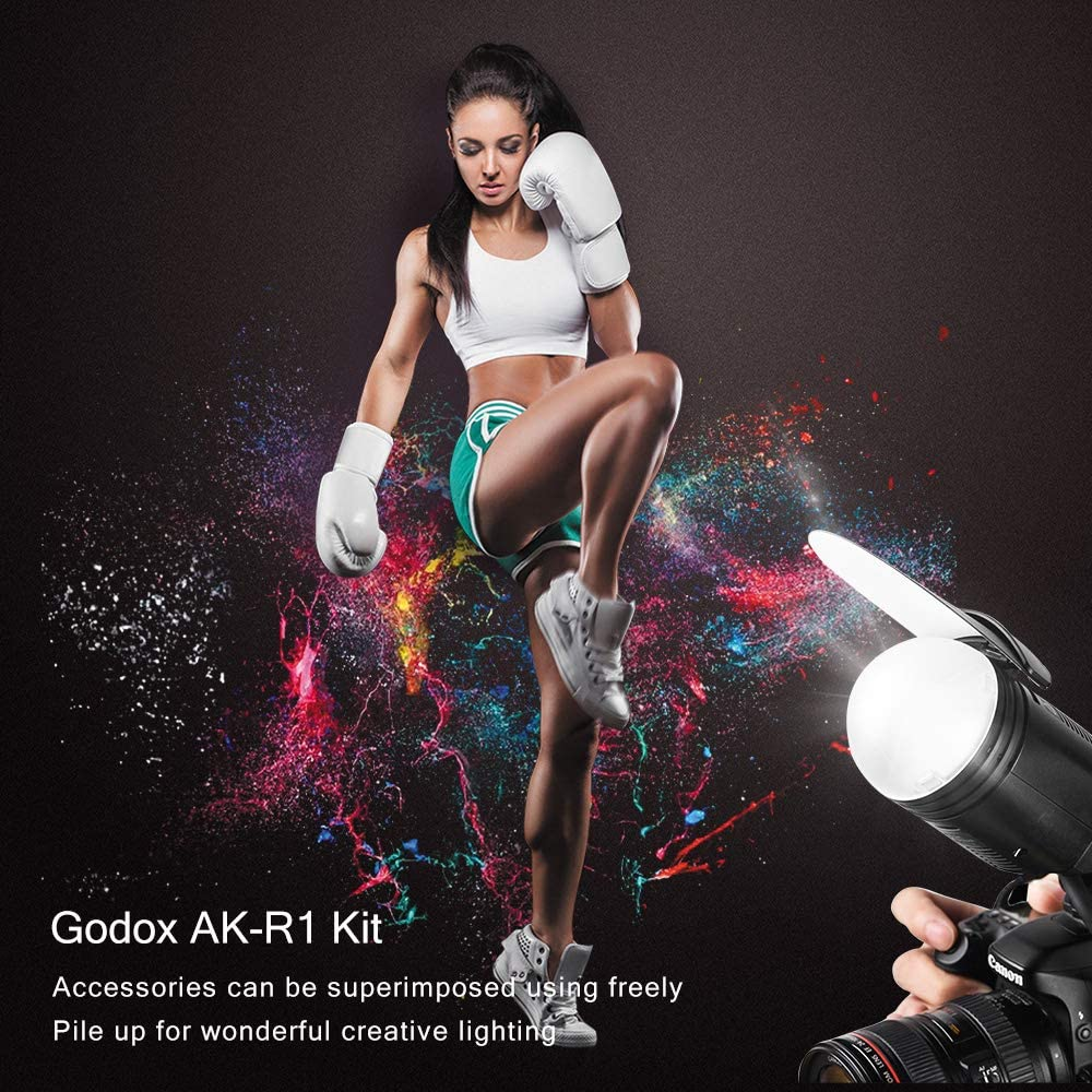 GODOX TT685N TTL Flash 2.4G i-TTL II Autoflash Camera Flash Speedlight with AK-R1 Round Head Accessories S-R1 Adapter Compatible with Nikon DSLR Cameras D3400 D3200 D7500 D7200 D5600 D5300 D850 D750