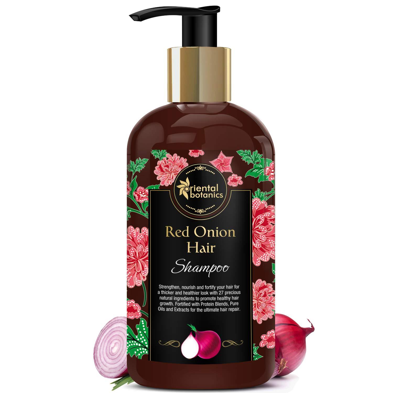 Oriental Botanics Red Onion Hair Growth Shampoo, 300ml - With 27 Hair Boosters Controls Hair Loss & Promotes Healthy Hair Growth by Oriental Botanics