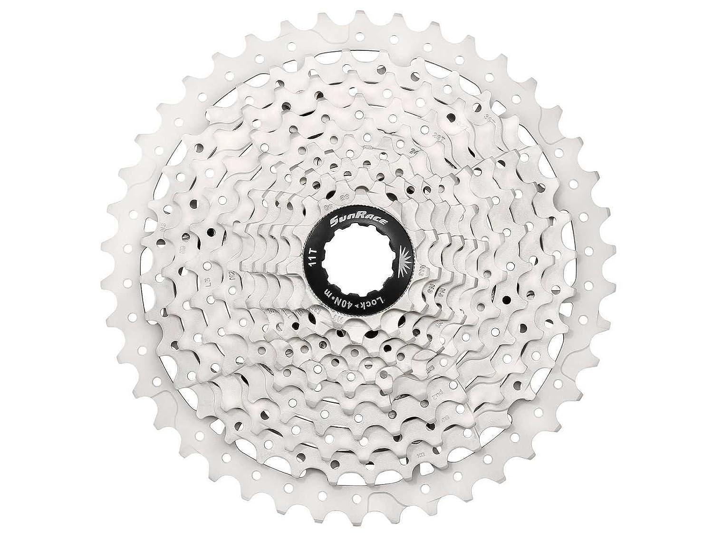 Sunrace ms3 10スピードマウンテン自転車自転車カセットブラック B01JAICGWM Silver 11-42 Teeth Silver 11-42 Teeth