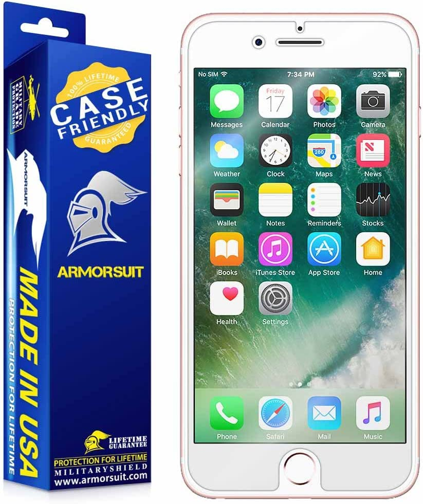 ArmorSuit MilitaryShield [Case Friendly] Screen Protector for Apple iPhone 7 Plus - Anti-Bubble HD Clear Film