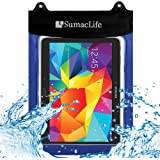 SumacLife 10.6inch Waterproof Pouch Dry Bag for Samsung Galaxy Tab 4 10.1 / Samsung Galaxy Tab S 10.5inch Tablets (Blue)