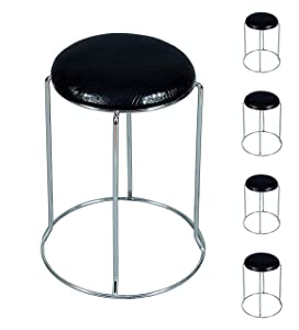 MBTC Recko Cushion Kitchen Cafeteria Stool Home Office Stool (Set of 5)
