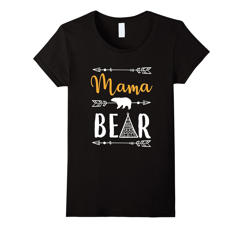 Womens Funny Mama Cute Bear T Shirt Matching Pajamas Family-TH