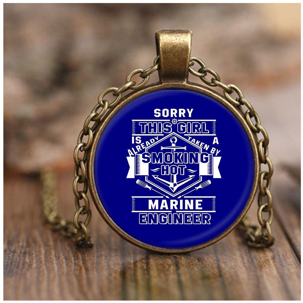 Amazon.com: Collares de ingenieros marinos, con texto en ...