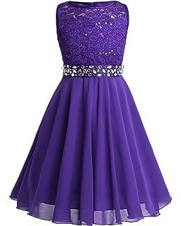 3815d6bbf GRACE KARIN Sleeveless Flower Girl Lace Bridesmaid Wedding Dresses ...