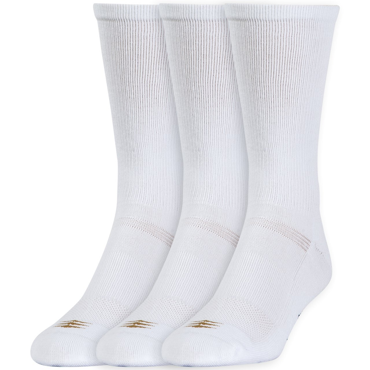 PowerSox Mens 3-Pack Cushion Crew Socks with Coolmax