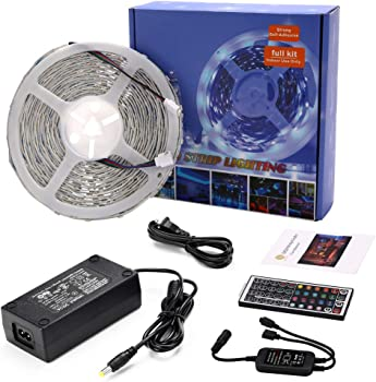 LEN 10M 32.8 Ft 5050 RGB 300LEDs Flexible Color Changing Full Kit