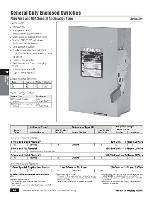 Siemens lf111n 30 amp 1 pole 120 volt plug fused gb wn indoor siemens lf111n 30 amp 1 pole 120 volt plug fused gb wn indoor rated wall light switches amazon sciox Image collections