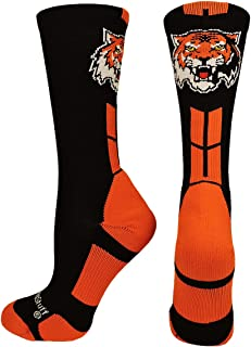 product image for MadSportsStuff Tigers Logo Athletic Crew Socks (Multiple Colors)