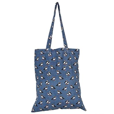 f7edd65c67 Purple Possum Shopping Bag Blue Puffin Bird Print Foldable Shopper Ladies  Womens Eco Reusable Cotton Folding Puffins Tote  Amazon.co.uk  Shoes   Bags