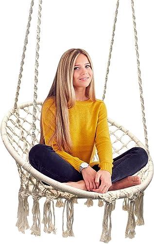 Sorbus Hammock Chair Macrame Swing - best indoor swings