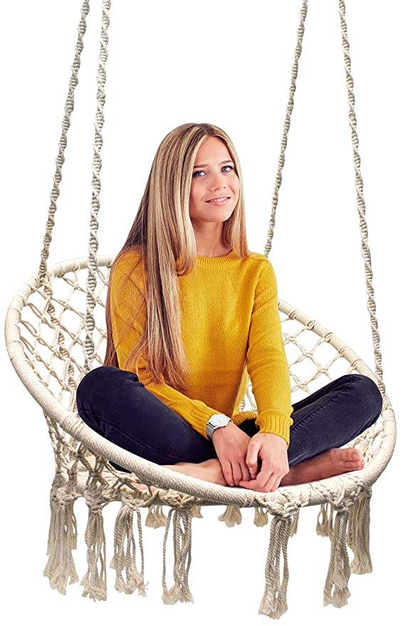 Sorbus Hammock Macrame Swing – Best For Durability