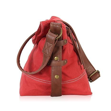 5b907d7f46 Hynes Eagle Casual Canvas Crossbody Messenger Purse Bag for Women Girls  Satchel Hobo Handbags Coral  Amazon.ca  Luggage   Bags