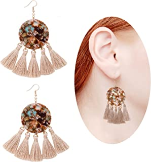 f0cbf0130 Acrylic Earrings For Women Girls Statement Geometric Earrings Resin Acetate  Drop Dangle Earrings Mottled Hoop Earrings