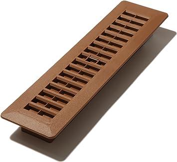 Oak Brown Decor Grates PL210-OB 2-Inch by 10-Inch Plastic Floor Register