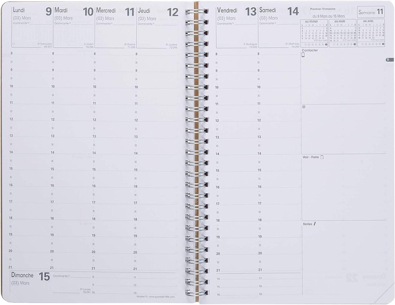 geometrisch Quo Vadis Authentik Ministre Spiralkalender 16 x 24 cm Jahr 2020 Wochenansicht