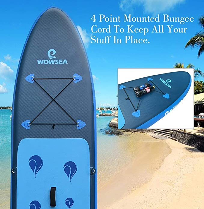 Tabla hinchable paddle surf - Wowsea paddle board hinchable con tamaño de 320 x 81 x 15cm, carga hasta150kg: Amazon.es: Hogar