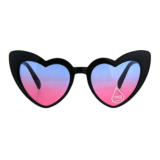 Goth Plastic Womens Cat Retro Heart Sunglasses Eye Shape 5LAR3j4