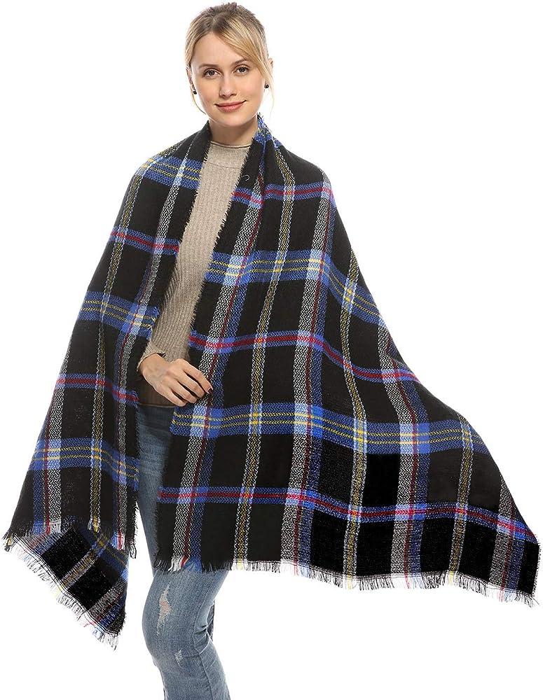 Mustard Yellow Scarf Ladies Blanket Wrap Winter Chunky Large Pattern Cosy Shawl