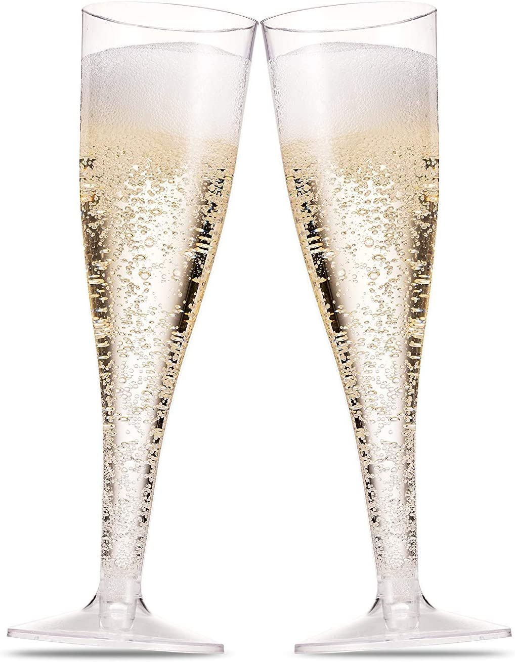 Amazon Com 50 Plastic Champagne Flutes 5 Oz Clear Plastic Toasting Glasses Disposable Wedding Party Cocktail Cups Champagne Glasses