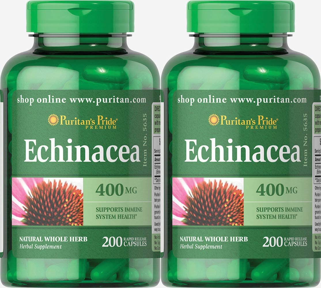 Puritan s Pride Echinacea 400 mg, 400 Count 2 Pack