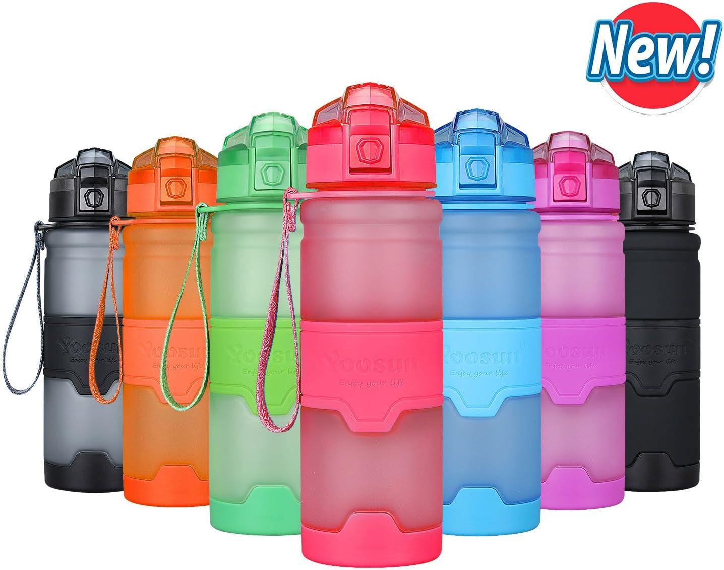 YOOSUN botella de agua deporte 500ml/700ml/1000ml botella agua sin ...
