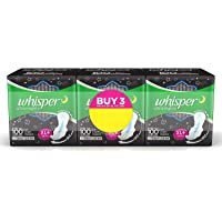 Whisper Night Sanitary XL Plus Pads 45 Units
