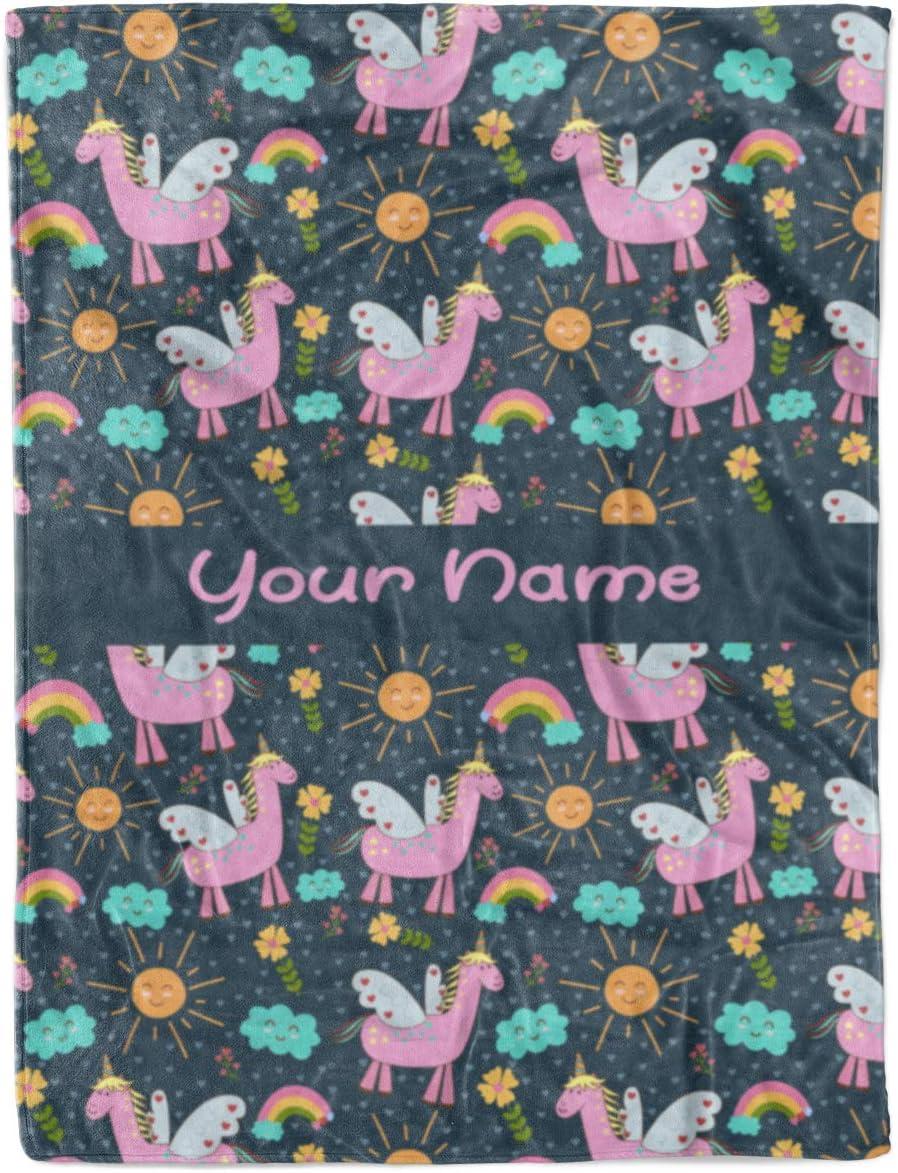 Unicorn Fleece Blanket By Mud-Pie  Pink  Monogrammed  Personalized  Kids Blanket  Girls Blanket  Unicorn